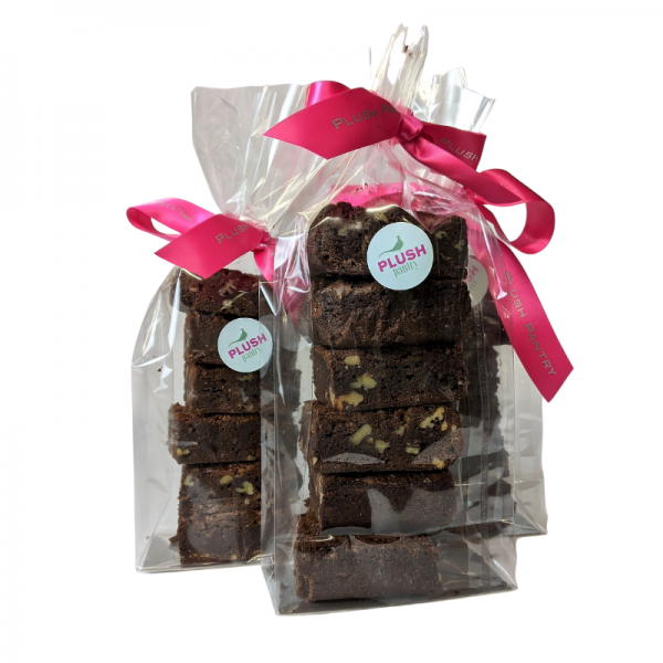 Gift pack of 6 Chocolate Brownies with nuts and caramel