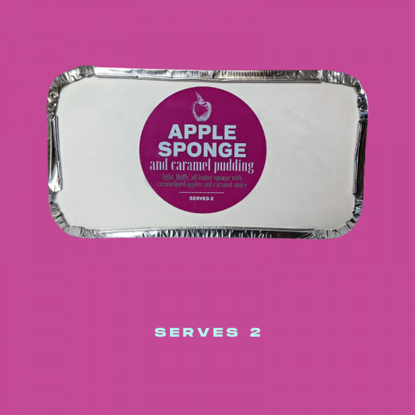 Plush Pantry Apple Sponge and Caramel Pudding
