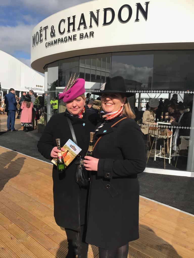 Rebecca Green and Charlotte Burk at Cheltenham Festival