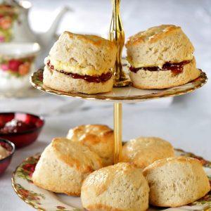 cream tea scones jam and cream