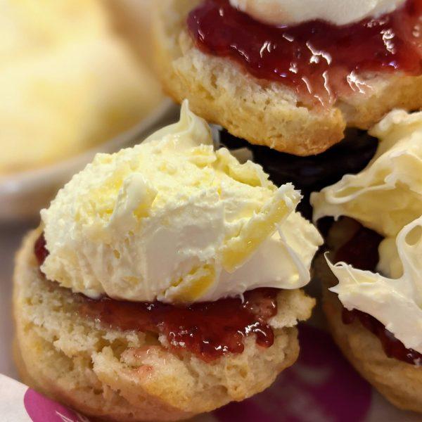 Cream tea - Fluffy Scones, strawberry jam and Clotted cream