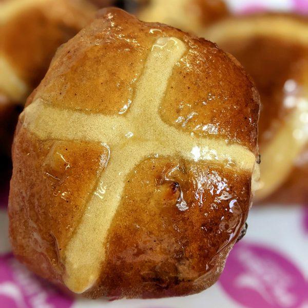 Delicious Easter hot-cross buns