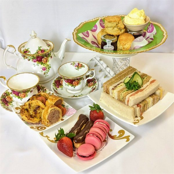 Dorset afternoon tea by post with sandwiches