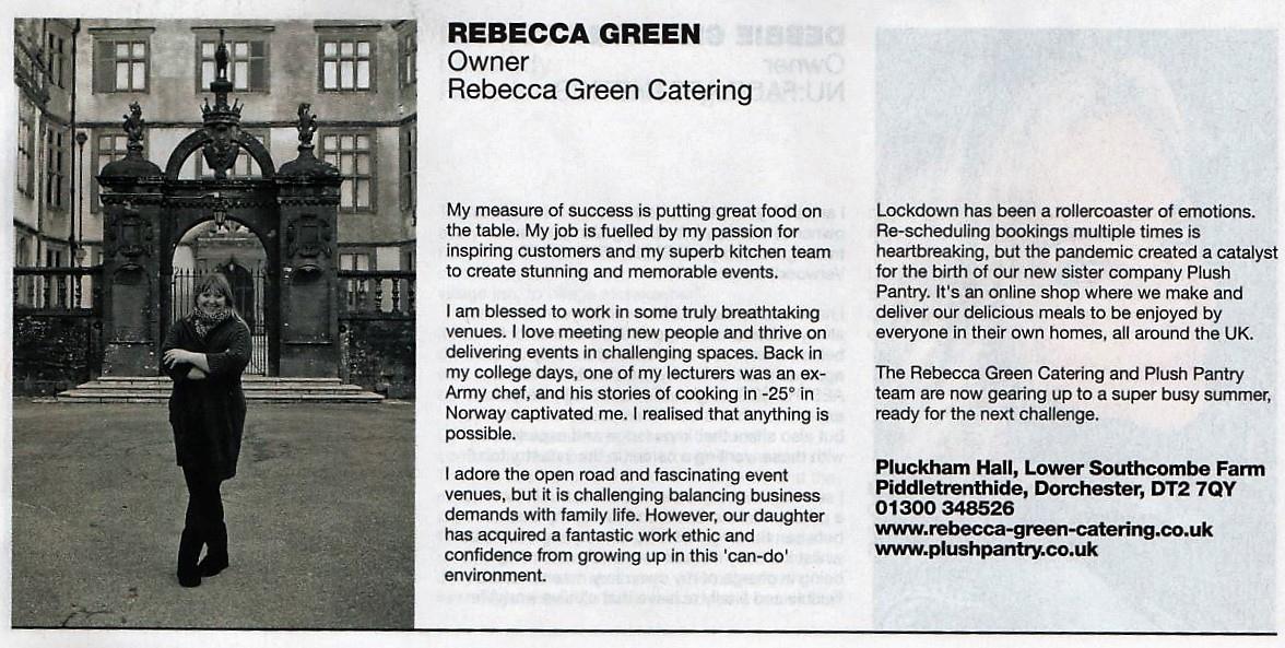 Rebecca Green leading lady of Dorset
